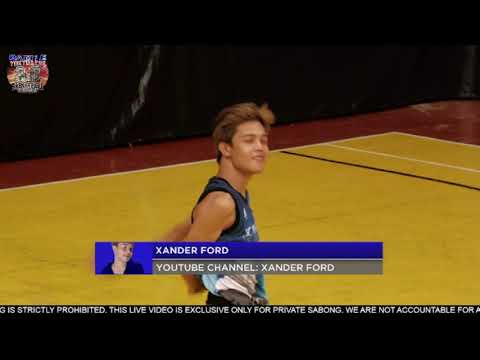Battle Of The Youtubers - Xander Ford Vs Merck (Exhibition Match)1v1 BasketBall