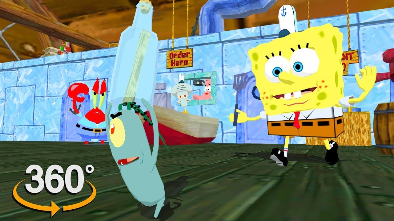 Spongebob Squarepants! - 360° Secret Formula? - (The First 3D VR Game Experience!)