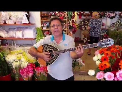 Only In Israel - A Singing Florist In Tiberias - With A Buzuki!