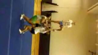 cheerleading stunt: step up - front tuck out of a half