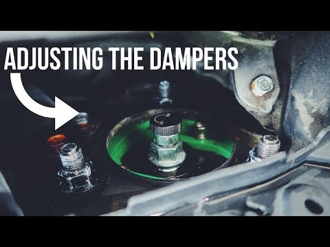Adjusting dampers on Coilovers for the Honda Civic