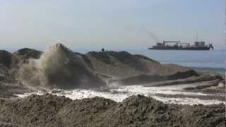 SANDAG Beach Replenishment in Cardiff by the Sea - October 2012