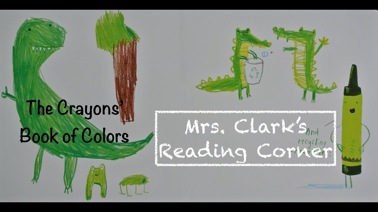 The Crayons Book Of Colors Words On Screen Music Efx Youtube