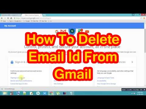 how to remove an email from gmail