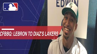 Edwin Diaz happy LeBron James signed with the Lakers