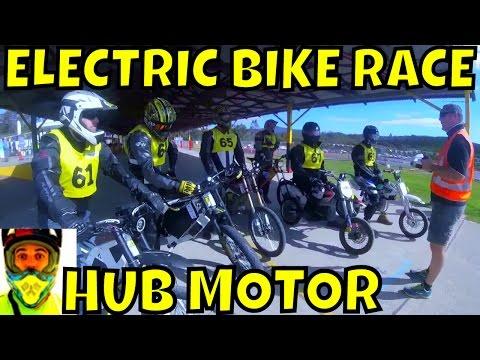 HubSink vs normal hub motor - Electric Bike RACE (preparation + race) - Hunter EV festival 2016