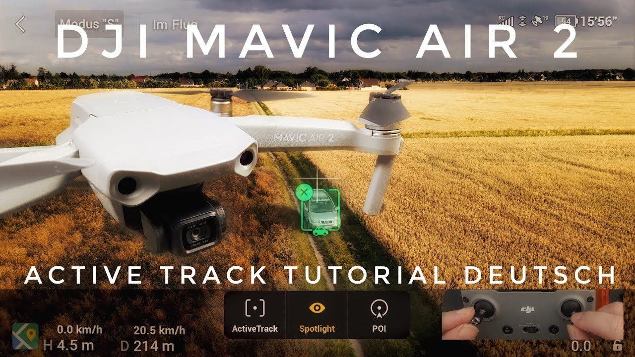 Dji Mavic Air 2 Active Track Deutsch, Focus Track, Spotlight, Point Of Interest Tutorial Deutsch