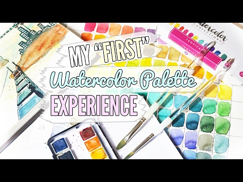 My First Watercolor Palette ❖ Unbox, Swatch, and PAINT!