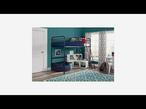 Must See Kids Furniture Review Dhp Studio Loft Bunk Bed Over Desk And Bookcase With Metal Frame