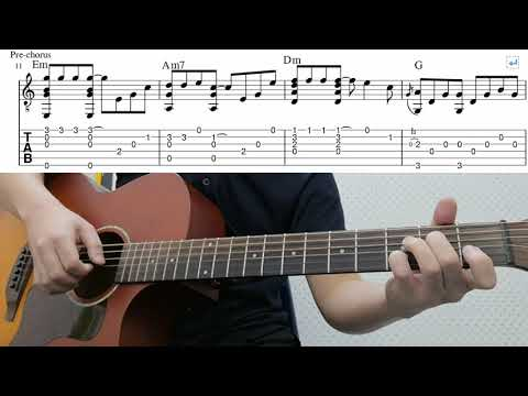 If I Let You Go (Westlife) - Easy Fingerstyle Guitar Playthrough Tutorial Lesson With Tab thumbnail