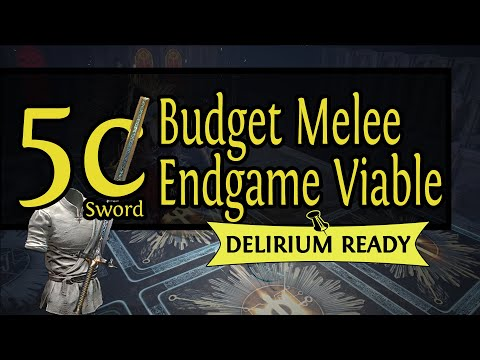 Path Of Exile| Budget Endgame With A 5 Chaos Sword