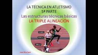 La técnica en atletismo. 5ª Parte. Estructuras técnicas básicas la triple alienación