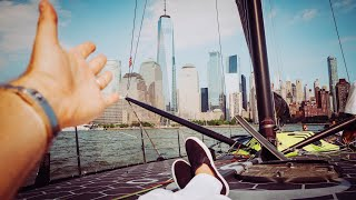 NEW YORK SPEED SAILING THE $3MILLION CARBON RACE BOAT | NICO ROSBERG | eVLOG