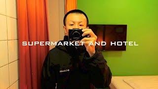 デンマークの旅2 - ホテルと格安スーパーマーケット・コペンハーゲン中央駅→夜の街【バックパッカー北欧一人旅】