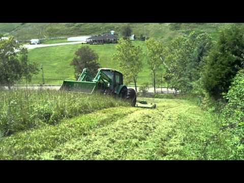 John Deere Bush Hogging Hillside