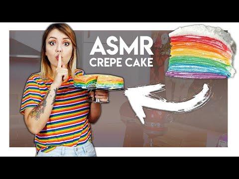 Wie schmeckt ein Rainbow Crepe Cake aus ASMR s?