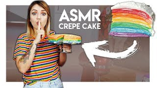 Wie schmeckt ein Rainbow Crepe Cake aus ASMR Videos?