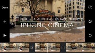 VIDEOGRADE app iPhone7 4K Color colorection with Filmic Pro Videograde app