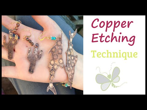 How to Make Jewelry with Copper Etching with Dragonfly Designs