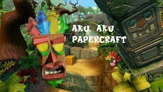 Aku Aku Papercraft - Crash Bandicoot Special!