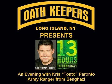 "Kris ""Tonto"" Paronto - The Truth About Benghazi"