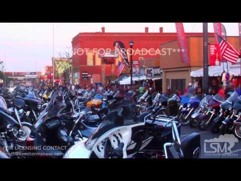 08-08-2017 Sturgis, South Dakota - 77th Bike Rally Downtown Timelapses