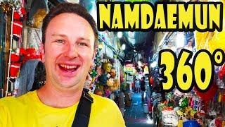 Namdaemun Market in Seoul Korea 360 Video Walking Tour