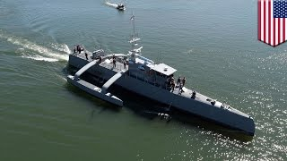 Military technology 2017 DARPA testing robot warship that can hunt enemy submarines - TomoNews