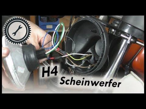 Auf H4-Scheinwerfer umrüsten - Simson Tutorial - YouTube