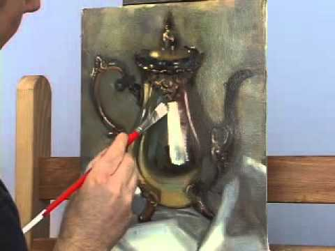 How to Paint Metal, Oil Painting Video Lessons