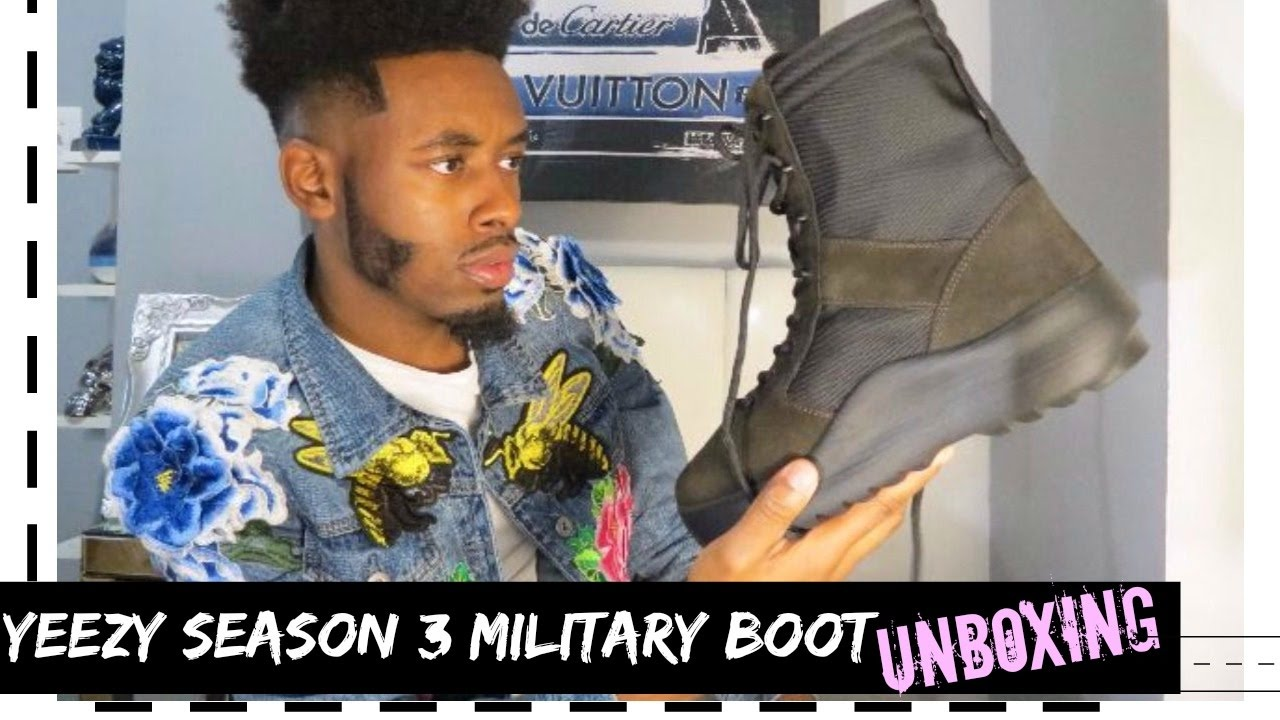 f9804c9fe YEEZY Season 3 Onyx Military Boot