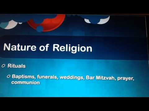 Sociology 14.2 Lecture - Religion