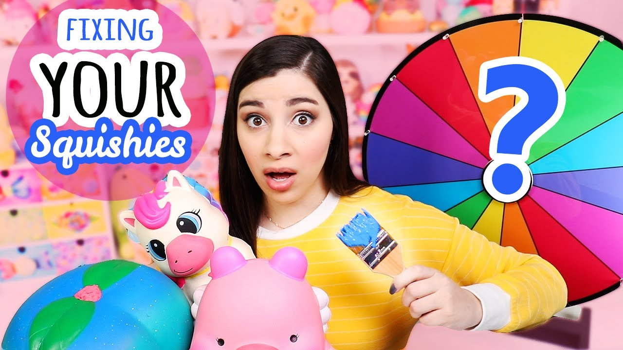 Squishy Makeovers: Spin The Wheel | Fixing Your Squishies #28