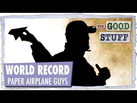 world record paper airplane youtube