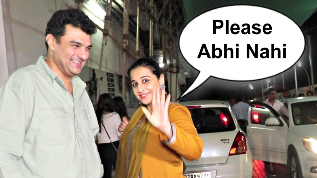 Vidya Balan Politely Refuse To Media From Clicking Her Pictures