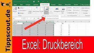 Excel Druckbereich Festlegen Youtube