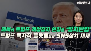 페북 트럼프 계정 정지 6개월  연장,이는 '정치탄압'…