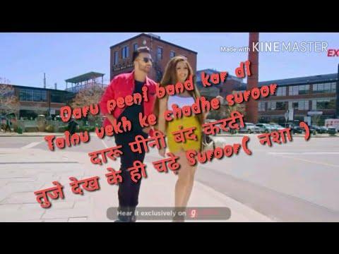 MANKIRT AULAKH - DARU BAND HINDI LYRICS (Official Video) | Latest Punjabi Songs 2018