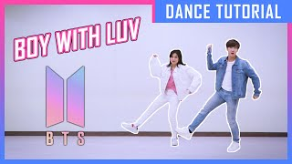 Gambar cover สอนเต้น BOY WITH LUV แบบ BTS | BOY WITH LUV DANCE COVER TUTORIAL (MIRRORED) | A.T. IS ME