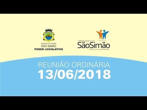 REUNIAO ORDINARIA 13/06/2018