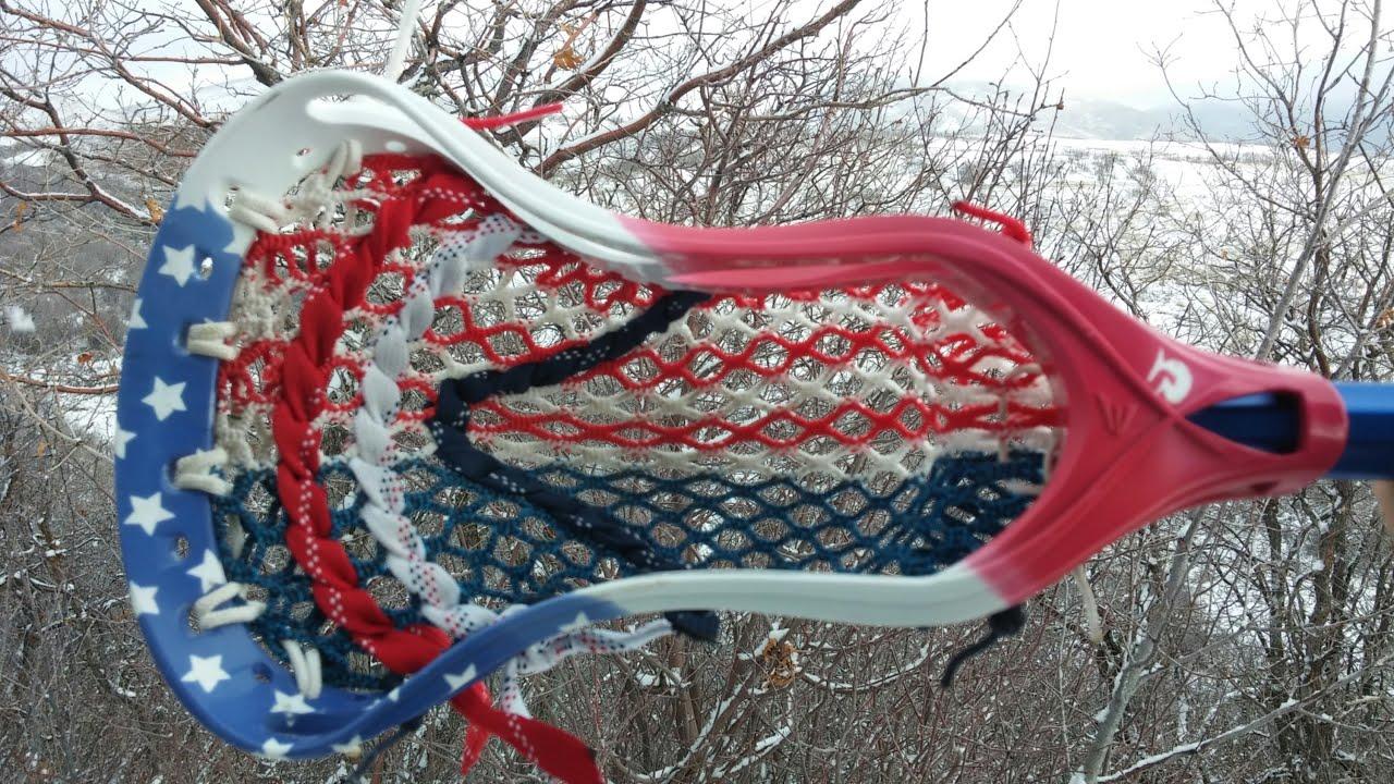 Custom Stars And Stripes Usa Lacrosse Head Dye Youtube