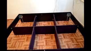 Двухспальная кровать своими руками, chester или коретная стяжка(в этом видео я хочу показать как можно самому сделать кровать с коретной стяжкой не затрачивая большую..., 2016-09-04T04:19:20.000Z)