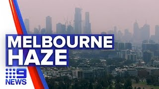 Thick haze blankets Melbourne CBD