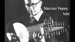 J.S. Bach: Gigue & Double in C minor BWV 997, played by Narciso Yepes (13-course LUTE)