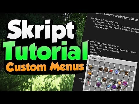 Minecraft Skript Tutorial: Custom Menu/GUI | Minehut (September 2019)