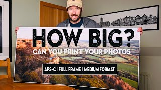 How BIG can you PRINT your PHOTOS? (Fuji XT3 vs Nikon Z7 vs GFX 50R)
