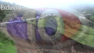 Deslizamiento de la carretera Internacional de Honduras, el portillo Ocotepeque
