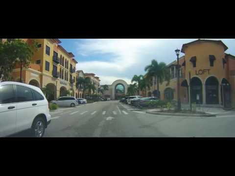 Driving around The Coconut Point Mall - Estero, Florida