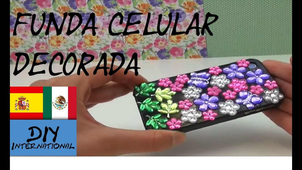 C mo decorar la funda para celular m vil con piedritas brillantes tutorial en espa ol - Como decorar una funda de movil ...