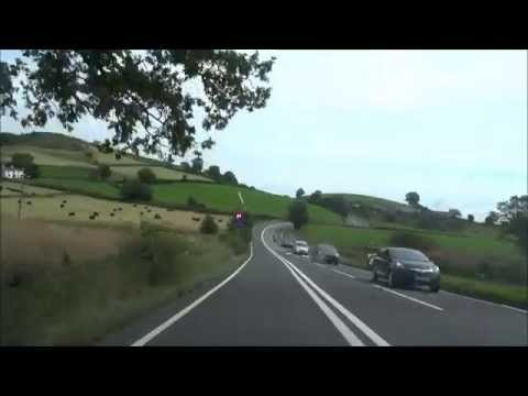 Driving from the Ambleside Lake District to Yorkshire Dales, UK, England